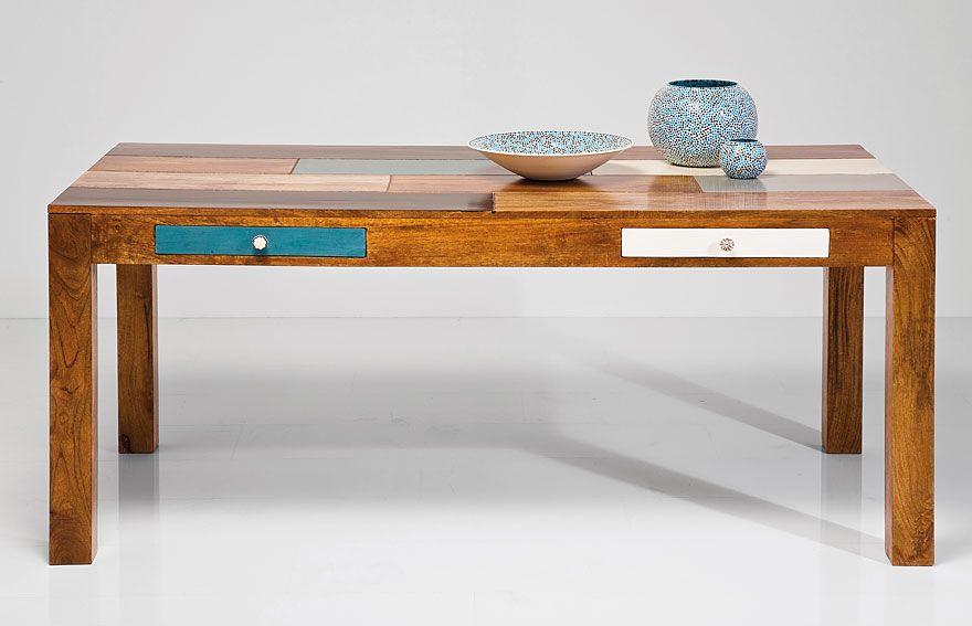 Mesa de Comedor Malibu Material: Madera de Mango Mueble realizado en ...
