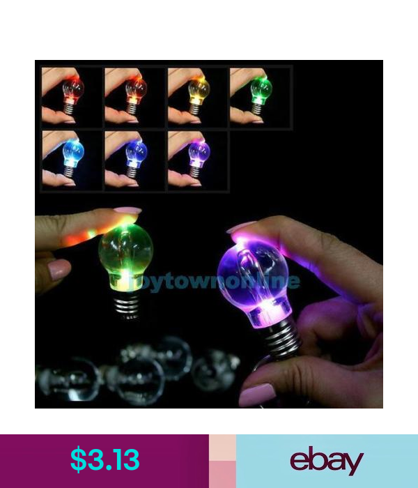 Keyrings Color Changing Mini Led Bulb Keychain Keyring Key Chain Light Up Party Novelty Ebay Collectibles With Images Light Bulb Lamp Led Light Lamp Bulb