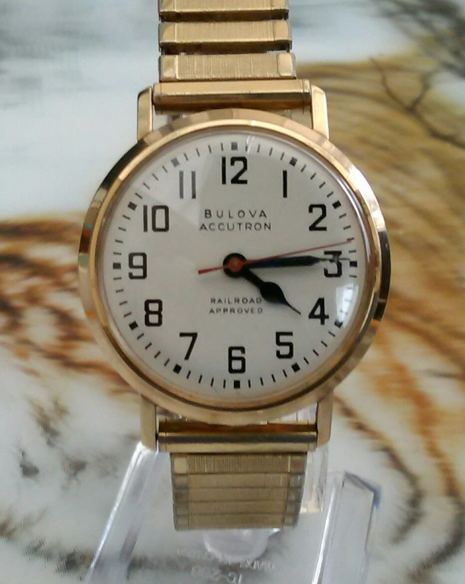 0980e2e31 Men's rare Bulova Accutron 214 railroad approved . 1965 . | eBay ...
