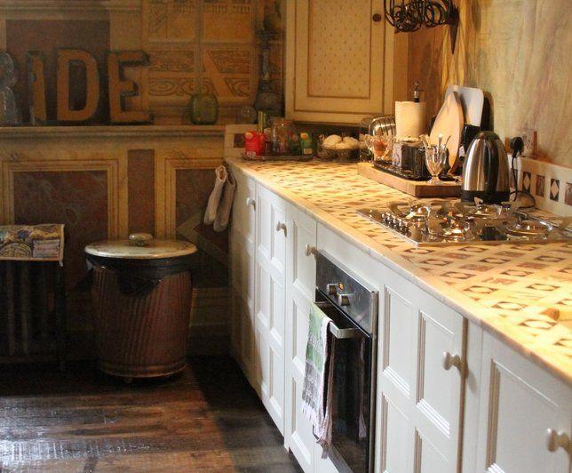 Photo Deco : Cuisine Beige Anglais Maison d\'hotes décor chic anglais ...