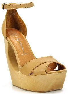 f08b4f2beae ShopStyle  Jeffrey Campbell - Rock Carmen - Natural Leather Donut Wedge  Sandal