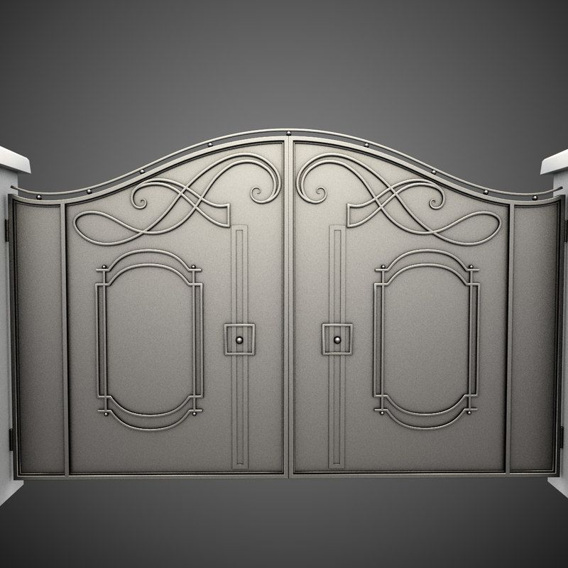 3d model of wrought iron gate | Wrought iron gate designs ...
