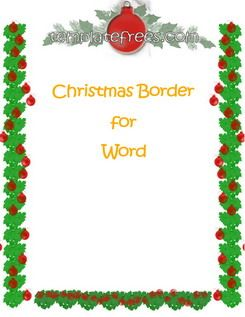 Christmas Border Template For MS Word  Free Microsoft Word Border Templates