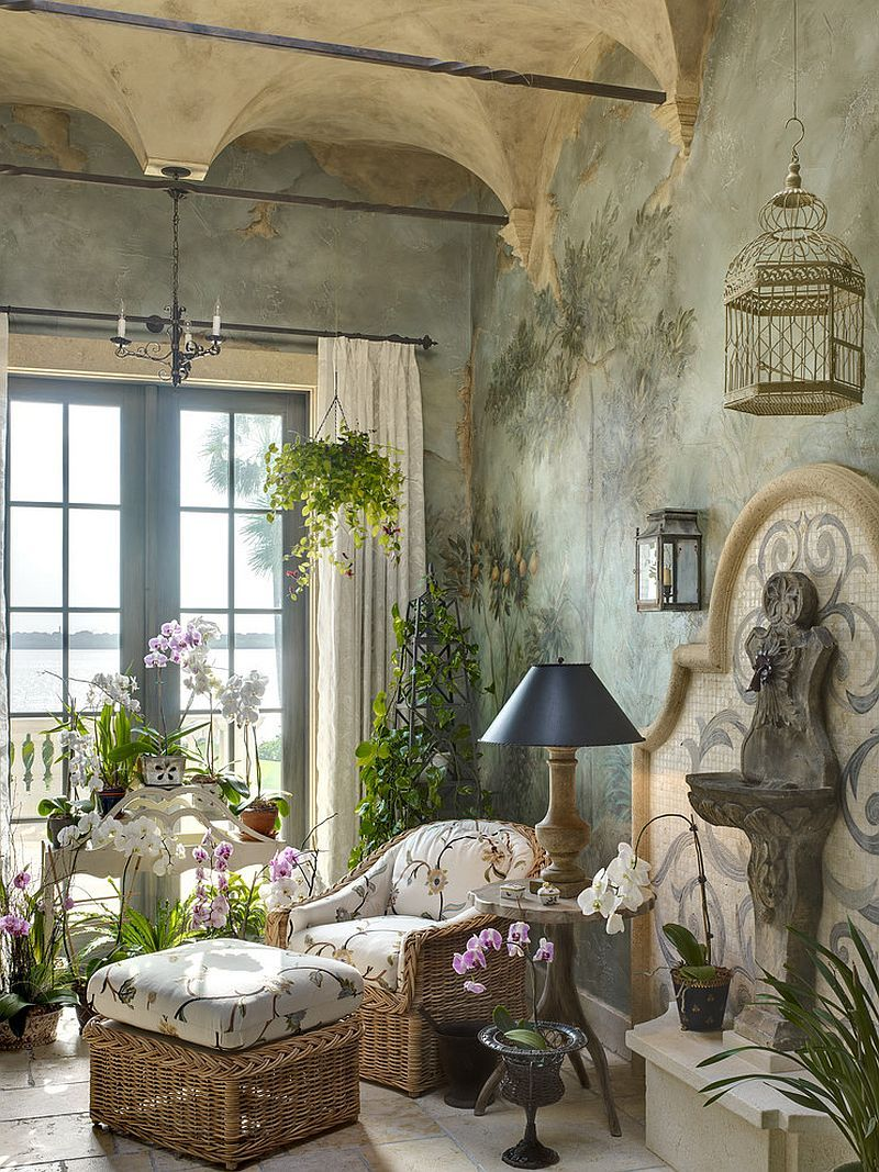 Decor Oriental Chic Embracing Warmth 25 Mediterranean Inspired Sunrooms For A Cozy