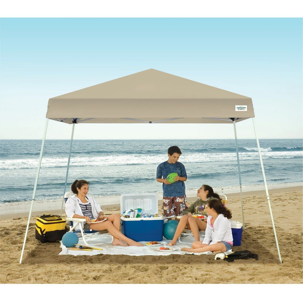 Easy to set up canopy offers 64 sq. ft. of shade and shower protection for camping, picnics, tailgating and other outdoor activities.