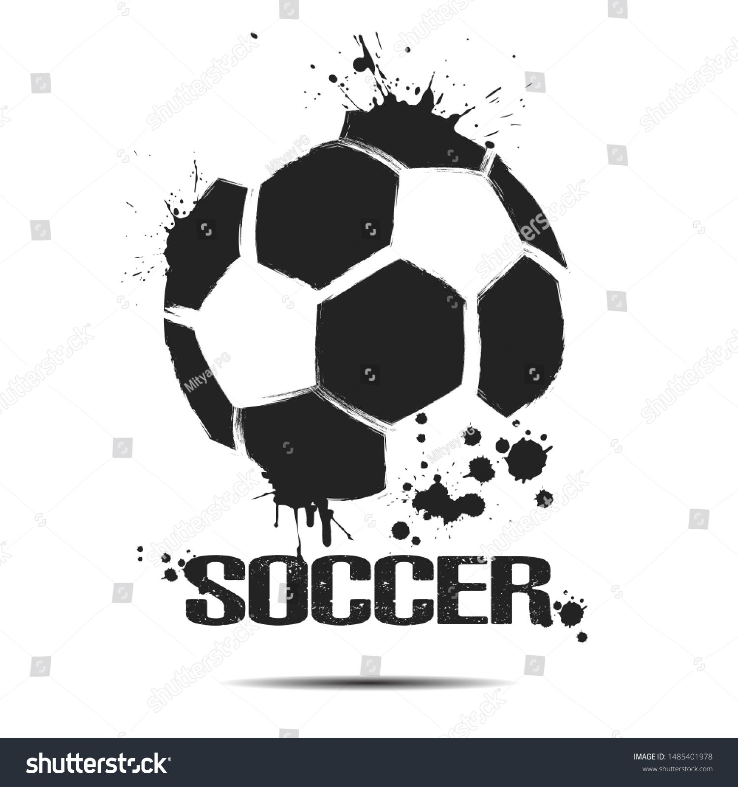 Soccer Ball Icon Abstract Soccer Ball For Design Logo Emblem Label Banner Football Template On Isolated Background G In 2020 Football Template Soccer Ball Soccer