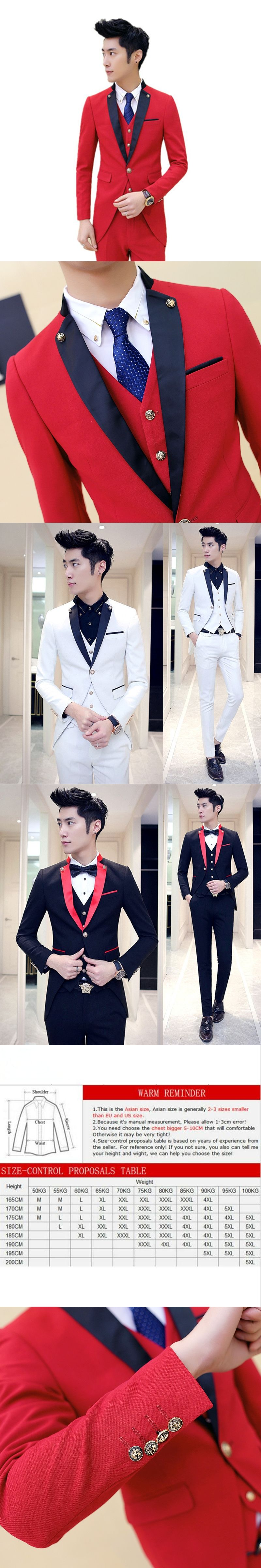 Jacket pants menus fashion boutique cotton pure color groom