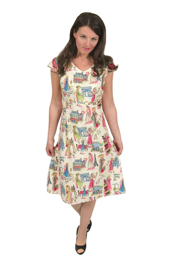 Eliza M Vintage Sewing Pattern: Wanda Dress Pattern | 1950\'s ...
