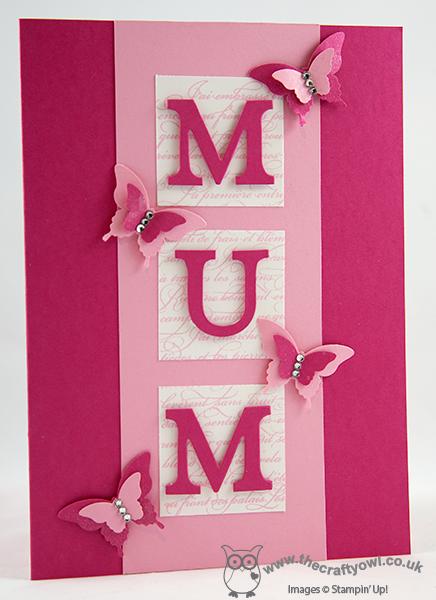 The Crafty Owl's Blog Cards Happy birthday mum cards