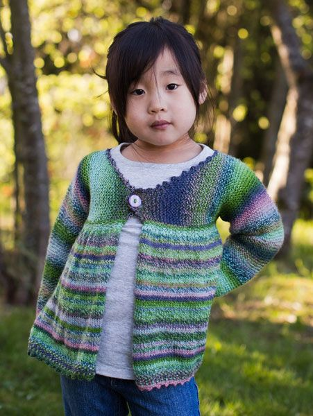 de46a74ca Free Knitting Pattern  Girls Swing Jacket (shown in color 2170)