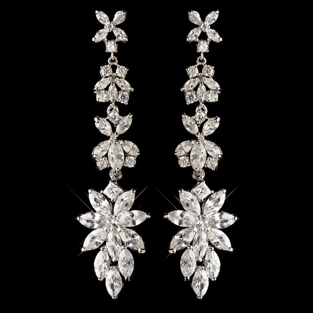1d5f663a150d82 Affordable Elegance Bridal - Marquise CZ Dangle Wedding Earrings, $81.49  (http://