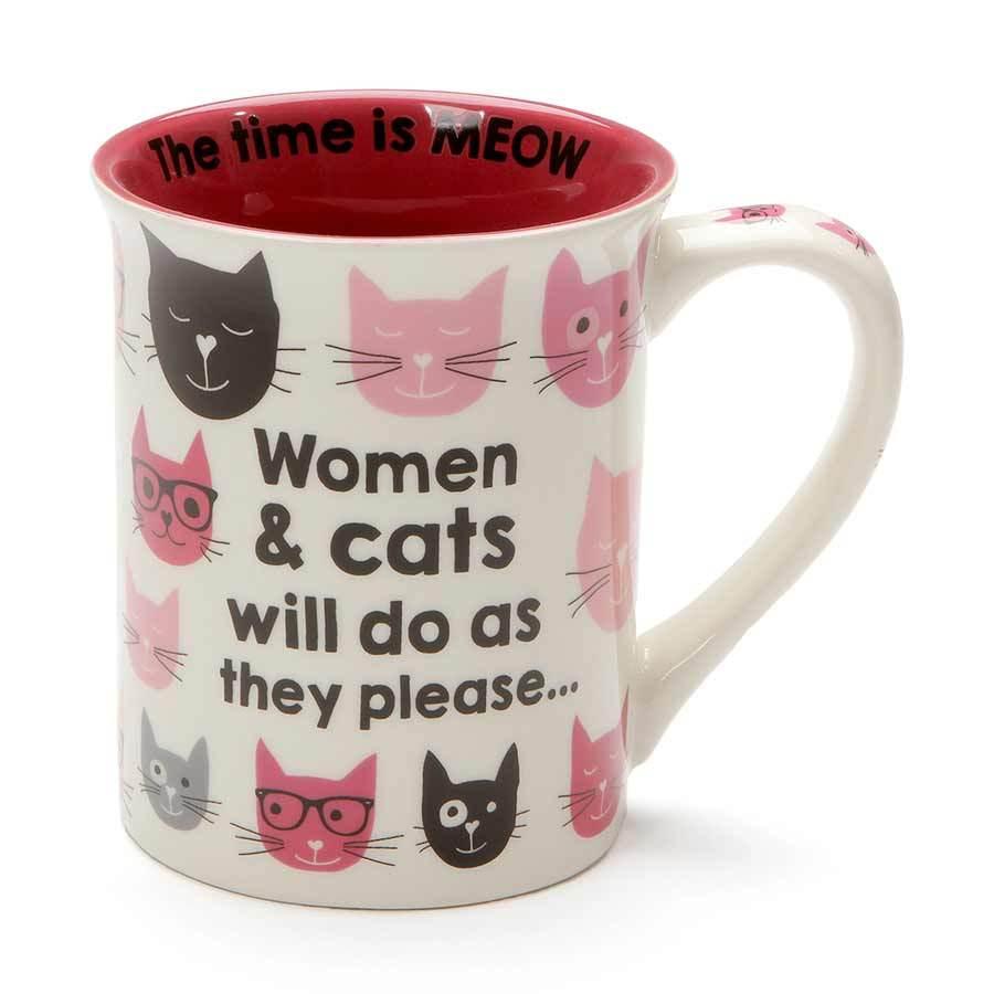 Pink kitties woman & cats in 2020 Mugs, Cat mug