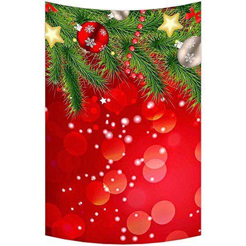 Custom Merry Christmas Xmas Santa Claus Wall Art Tapestries Home