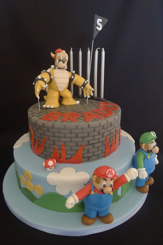 Mario Luigi And Bowser Birthday Cake Kids Birthday