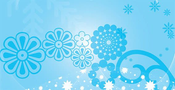 Design Elements With Blue Background