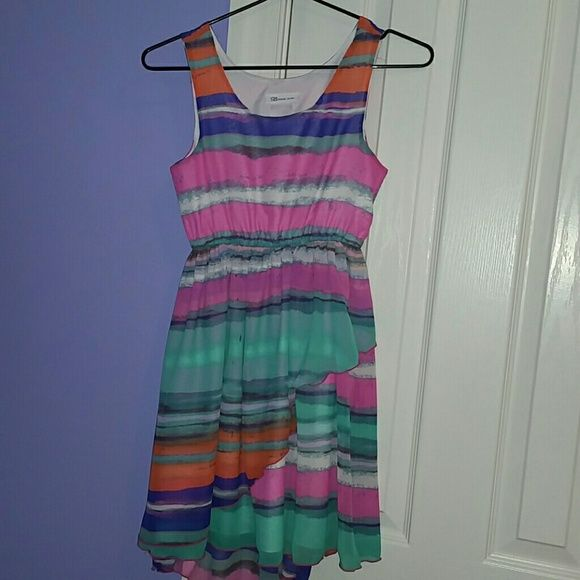 Girls Bonnie Jean colorful dress Sleeveless dress for girls Dresses High Low