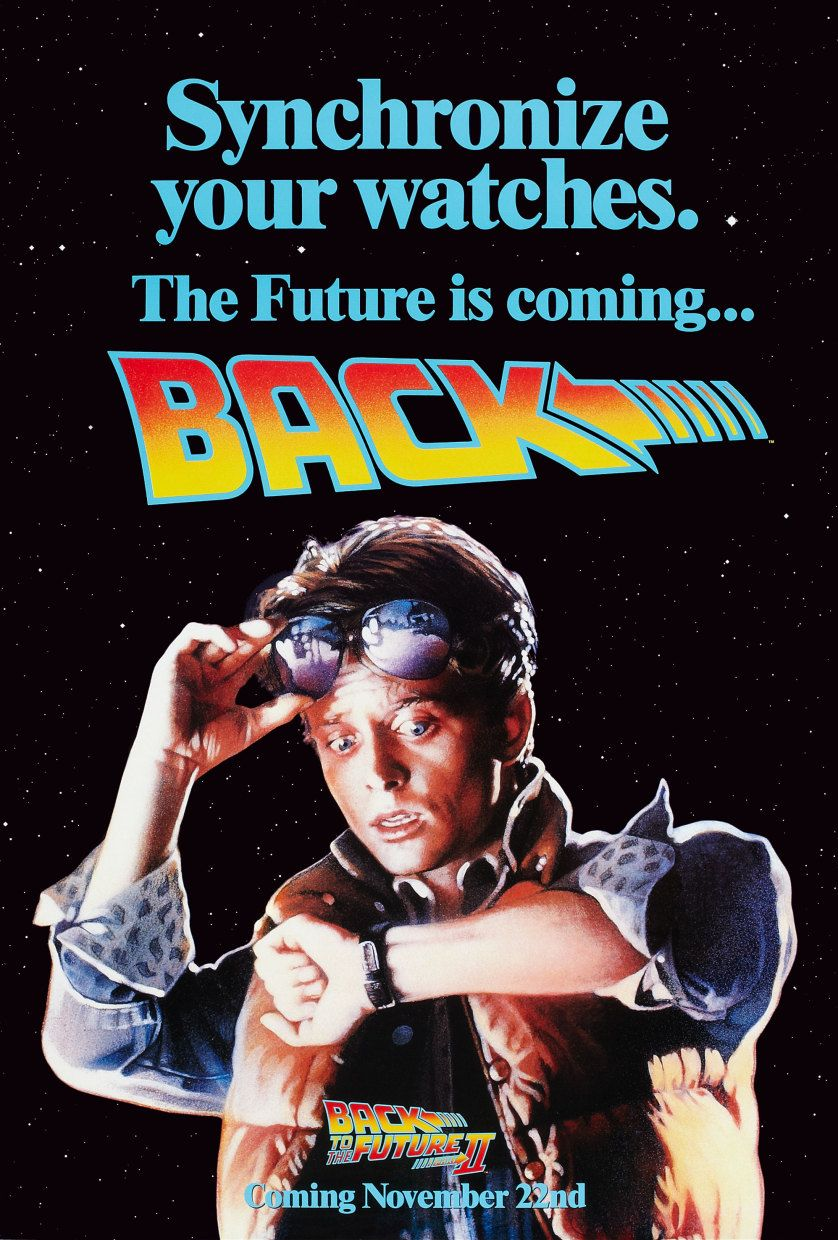 Back to the future ii promotional standup display back