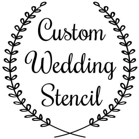 Custom Wedding Stencil 12 In X 12 In Wedding Stencil Custom Stencil Reusable Stencils Ready To Use Wedding Stencils Custom Stencils Custom Wedding