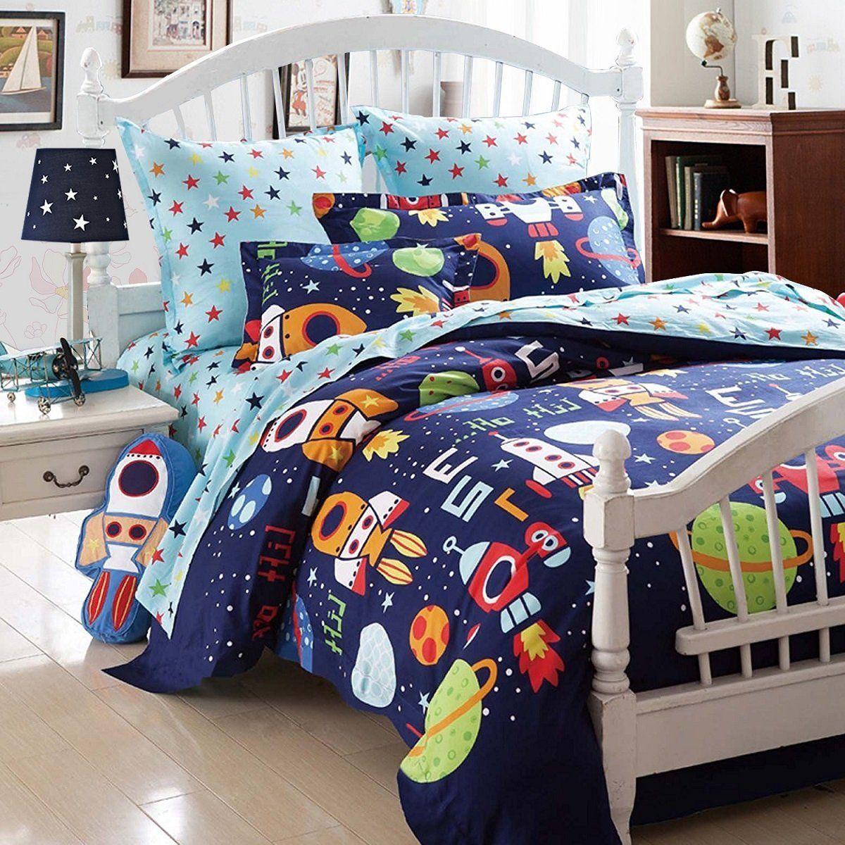 boys bedding sets space adventure