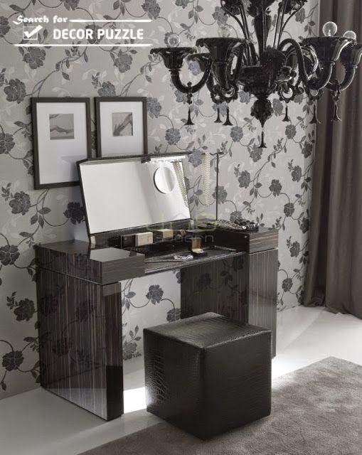 gloss black dressing table designs for small modern ...