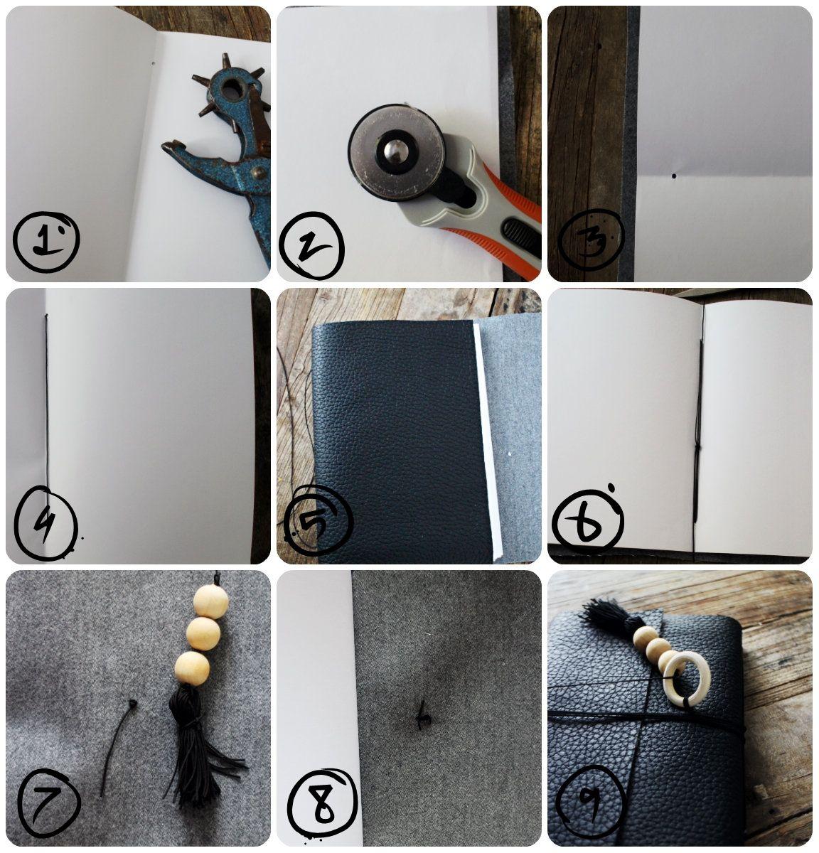Mrs. Monday DIY Notatbok i skinn // DIY Leather Notebook