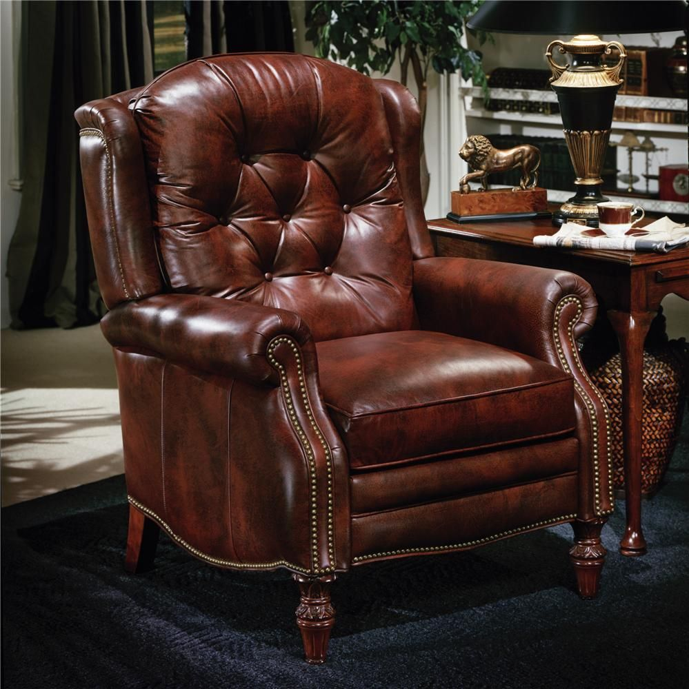 Leather Recliner Leather Furniture Reclining Wing Chair Leather Recliner