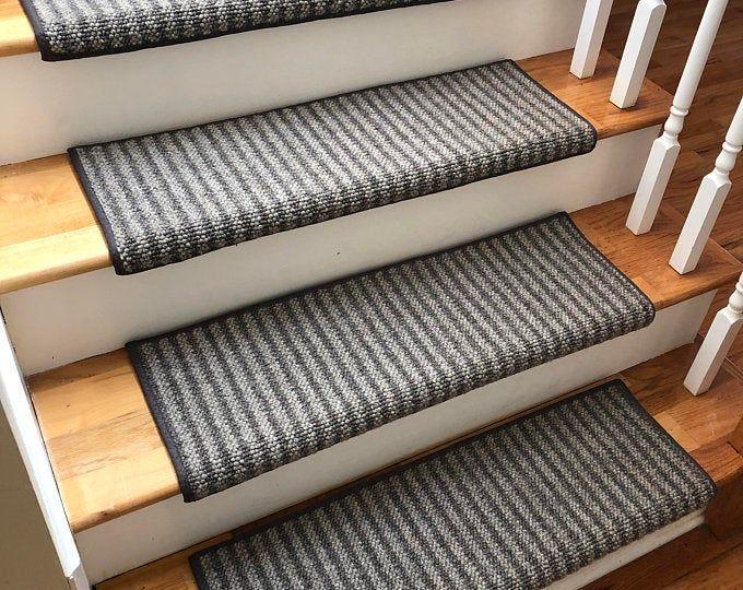 Best Alfa Stone 100 Wool True Bullnose™ Padded Carpet Stair Tread Handmade Step Cover Comfort Safety 400 x 300