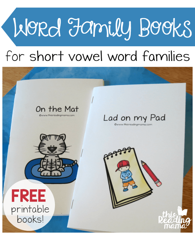 FREE Printable Word Family Books for Short Vowels | Best of