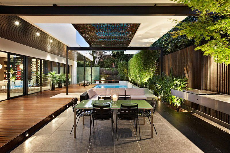 Outdoor Entertainment Area Design Ideas Part - 35: Indoor-outdoor-house-design-with-alfresco-terrace-living-