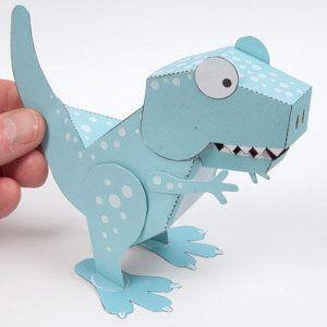 Awesome Printable Tyrannosaurus Rex Dinosaur Crafts Paper Toy Printable Paper Toys