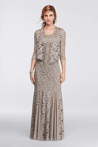 Mother Of The Bride Mother Of The Groom Dresses David S Bridal Lace Jacket Dress Mother Of Bride Outfits Half Sleeve Dresses