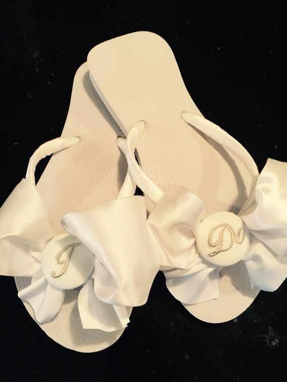 82d6bf6852ae4 BRIDAL Flip FlopsWedding Flip by RocktheFlops on Etsy