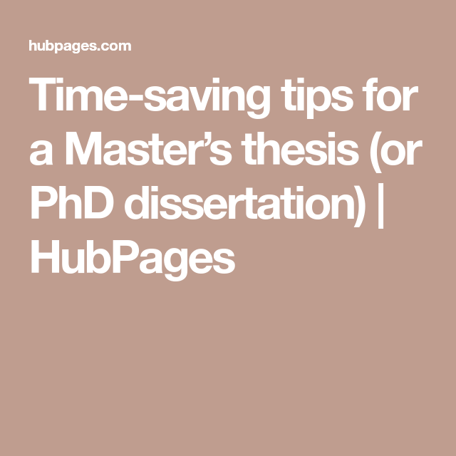 Time Saving Tip For A Master S Thesi Or Phd Dissertation Can You Do Without