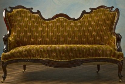 Napoleon Iii Antique Sofa Loveseat End 19th Century Sofa Bed