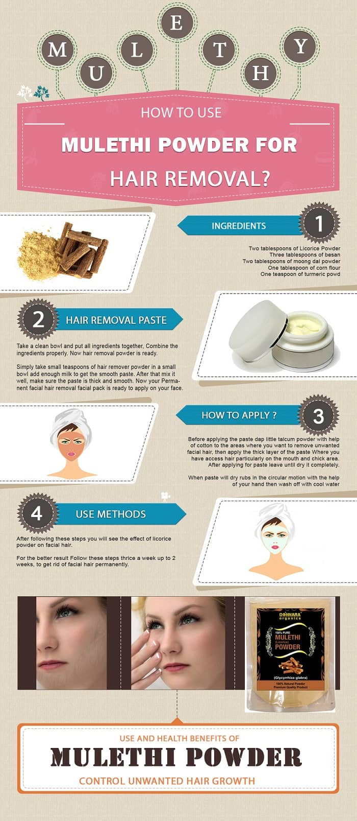 How To Use Mulethi Powder For Hair Removal In 2020 Permanent