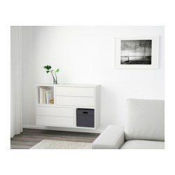 eket schrankkombination f r wandmontage wei einrichten und wohnen ikea ikea schr nke und. Black Bedroom Furniture Sets. Home Design Ideas