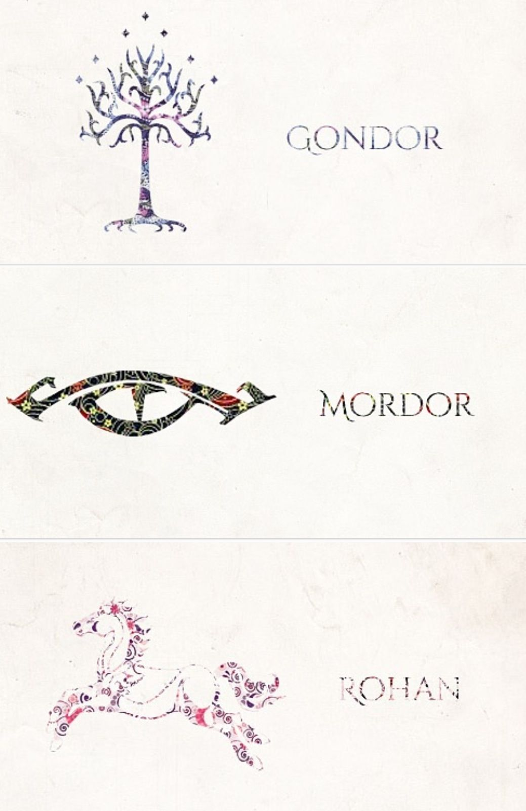 Symbols Of Middle Earth Smarten Up Pinterest Middle Earth