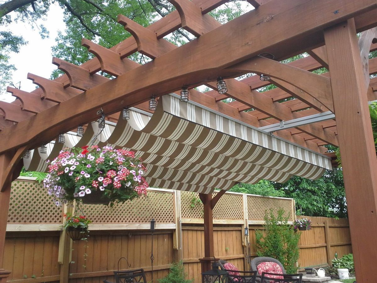 retractable awning unforgettable deck outdoor inspirations structures shade canopy patio sails covers diy