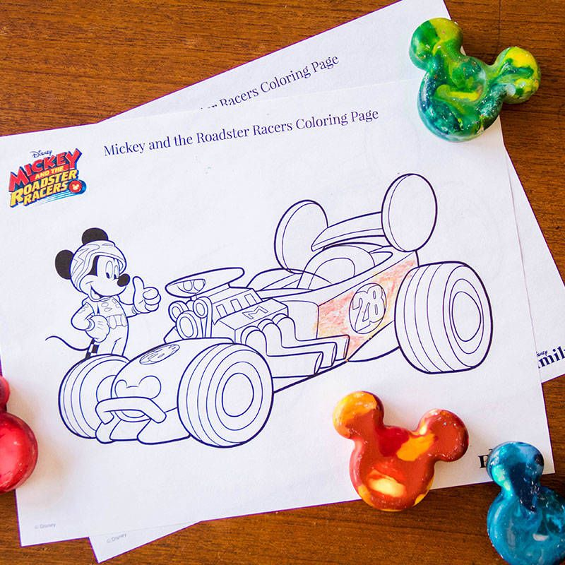 Mickey And The Roadster Racers Coloring Page