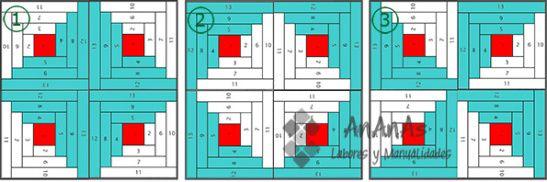 Log-Cabin-combinaciones-4-bloques