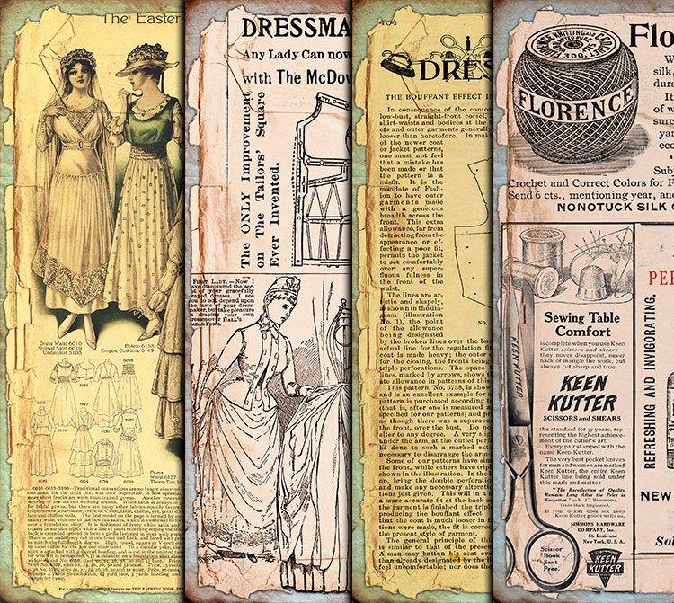 VBM1792 Digital Collage Sheet Download DIGITAL Vintage Junk Journal Ephemera