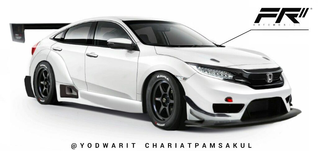 2016 Honda Civic Body Kit By Frii Honda Jdm Gt3 Honda Civic Body Kits Honda Civic 2016 Honda Civic Type R
