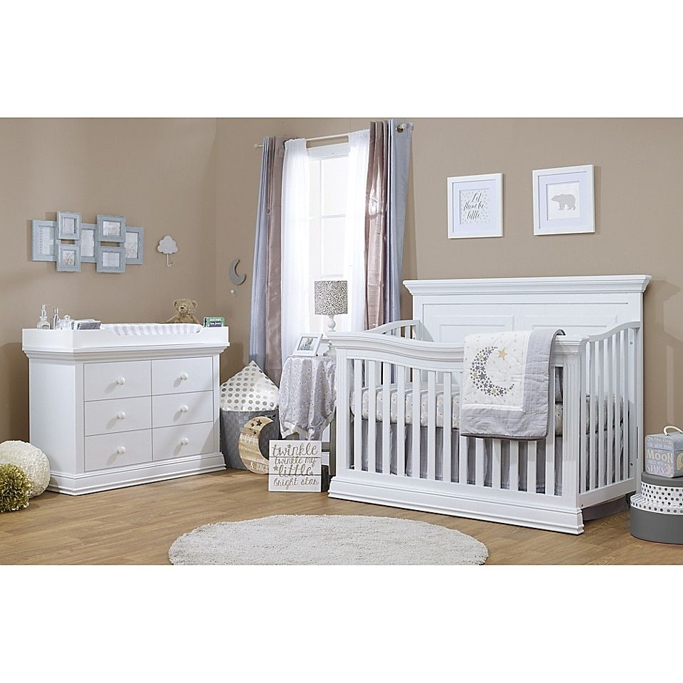 grey nursery furniture sets on Sorelle Paxton 4 In 1 Convertible Crib Bed Bath Beyond Baby Furniture Sets White Baby Furniture Cribs