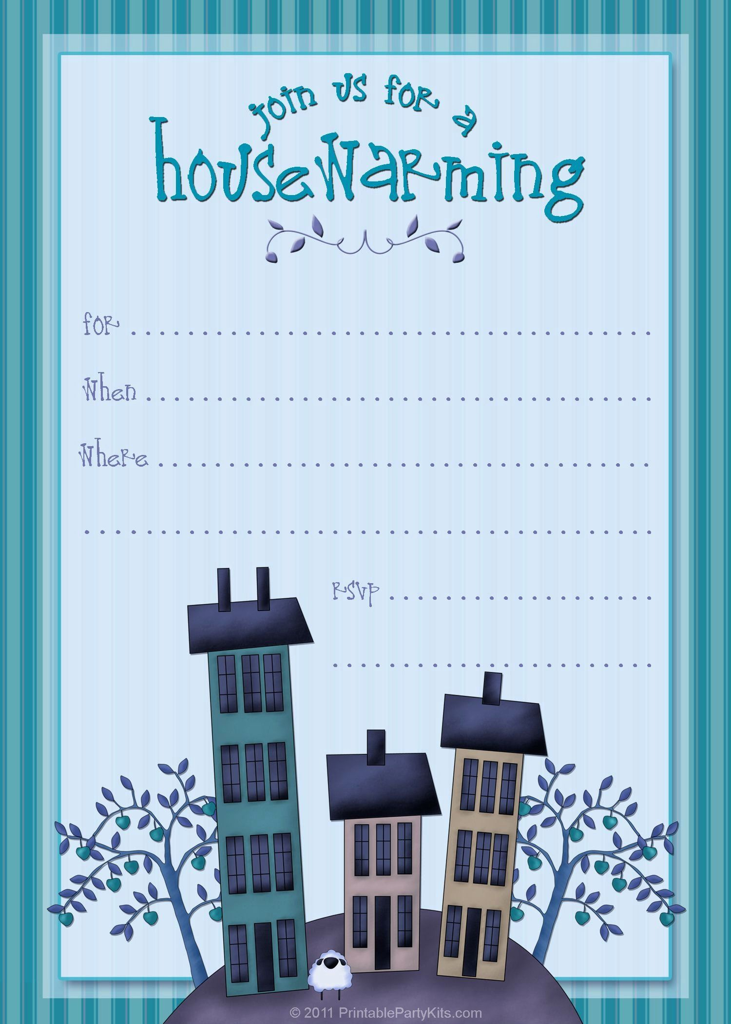 Awesome House Warming Party Invitation Template Housewarming