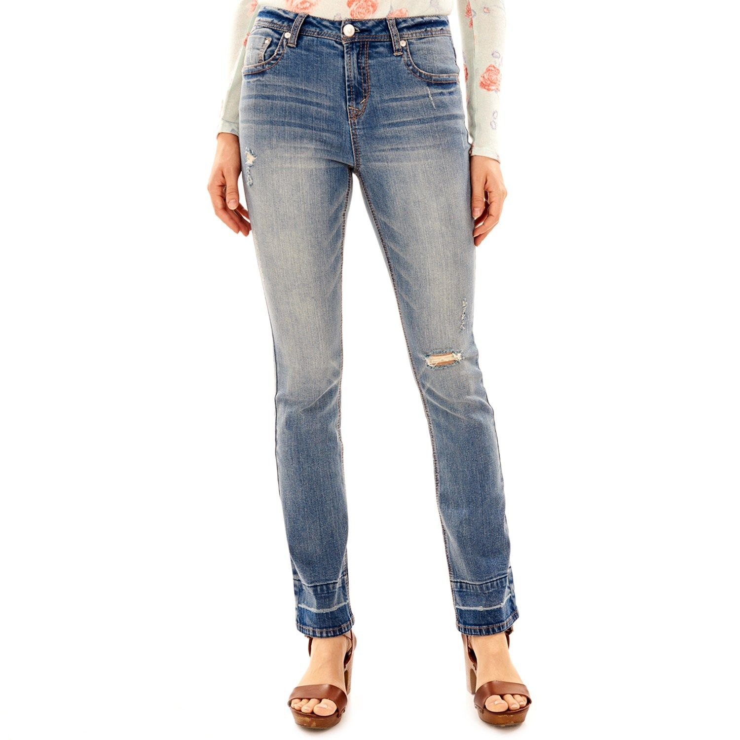 727cc484fb Juniors  Wallflower Release Hem Mini Bootcut Jeans  Release ...