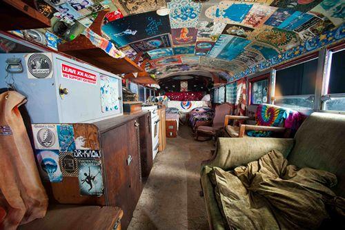 grateful dead's tour bus | photography and art | Bus house, Hippie