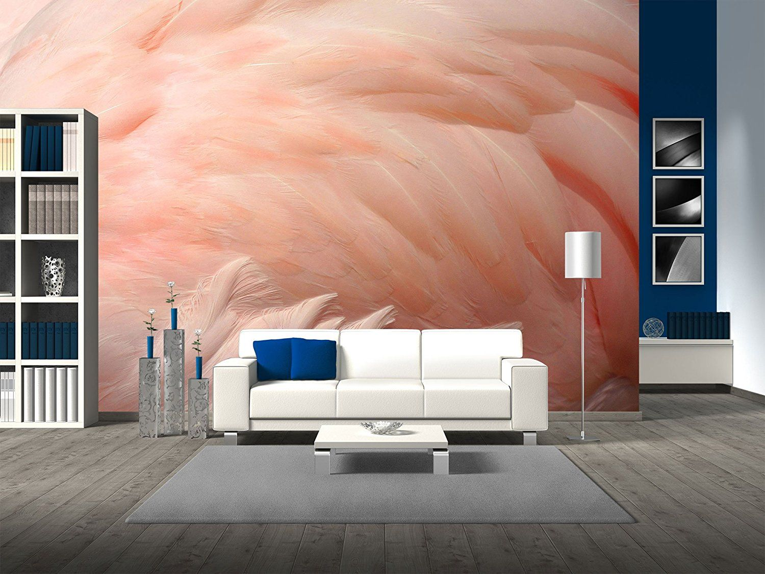 wall26 Pink Flamingo Feathers Delicate Soft