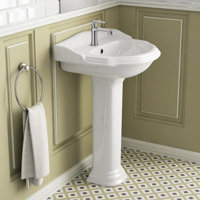 Lavabo Colonne rétro 58x89 Cm, céramique, Laetitia #lavabo #design