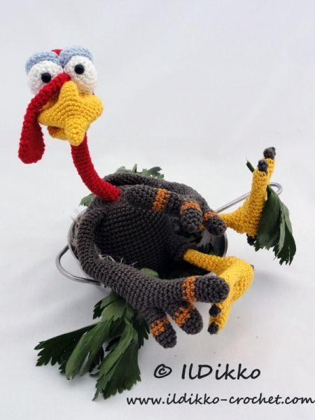 Theo The Turkey Amigurumi Pattern