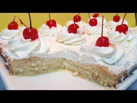 Tres Leches Facil Paso A Paso Como Hacer Pastel Tres Leches Tres Leches Cake Christmas Tree Cookie Recipes Cupcake Frosting Recipes